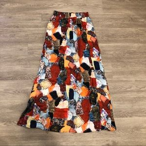 Love Moschino Quilt Printed Maxi Skirt Size 2 NWT